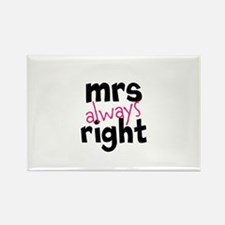 Mrs Always Right part of mr and mrs set Magnets
