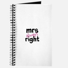 Mrs Always Right part of mr and mrs set Journal
