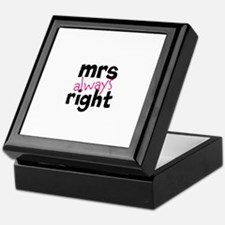 Mrs Always Right part of mr and mrs set Keepsake B