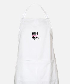 Mrs Always Right part of mr and mrs set Apron