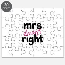 Mrs Always Right part of mr and mrs set Puzzle