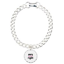 Mrs Always Right part of mr and mrs set Charm Brac