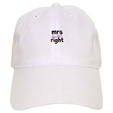 Mrs Always Right part of mr and mrs set Baseball Cap