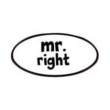 Mr Right part of mr and mrs set Patches