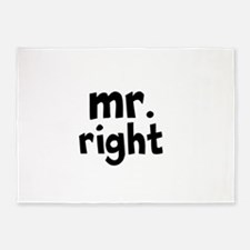 Mr Right part of mr and mrs set 5'x7'Area Rug