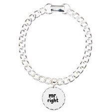 Mr Right part of mr and mrs set Charm Bracelet, On