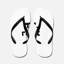 Mr Right part of mr and mrs set Flip Flops