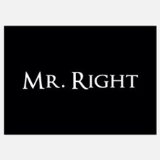 Mr Right part of his and hers set Invitations