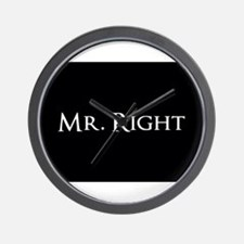 Mr Right part of his and hers set Wall Clock