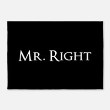 Mr Right part of his and hers set 5'x7'Area Rug