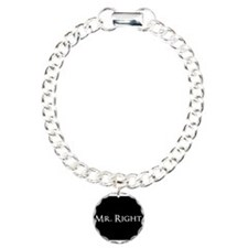 Mr Right part of his and hers set Charm Bracelet,