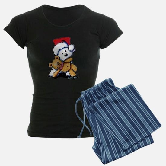 Christmas Teddy Bear Westie Pajamas