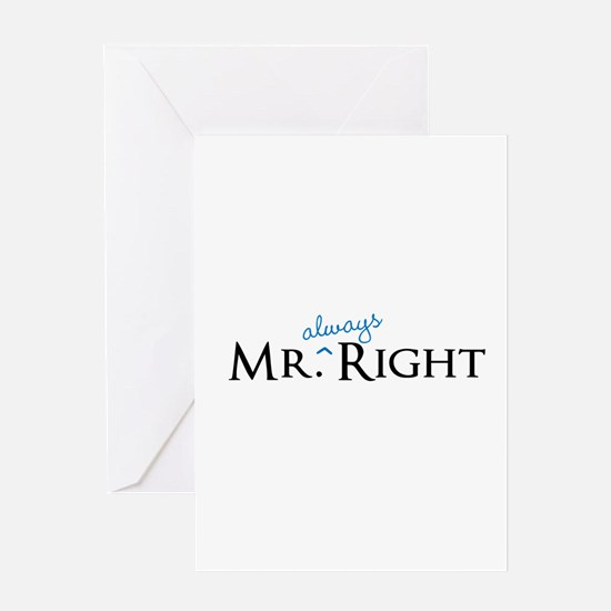 Mr always Right part of his and hers set Greeting