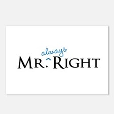 Mr always Right part of his and hers set Postcards