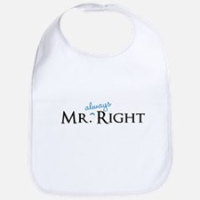 Mr always Right part of his and hers set Bib