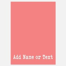 Basic Coral with text Invitations
