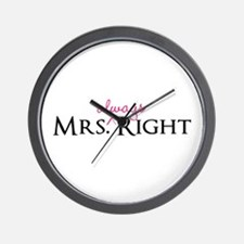 Mrs Always Right part of his and hers set Wall Clo