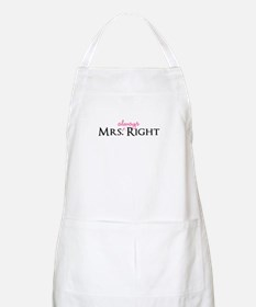 Mrs Always Right part of his and hers set Apron