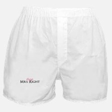 Mrs Always Right part of his and hers set Boxer Sh