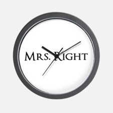Mrs Right part of his and hers set Wall Clock