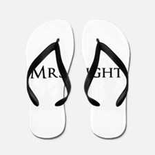 Mrs Right part of his and hers set Flip Flops