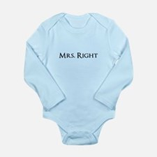 Mrs Right part of his and hers set Body Suit