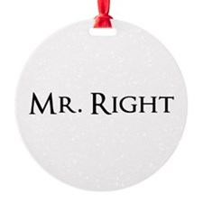 Mr Right part of his and hers set Ornament
