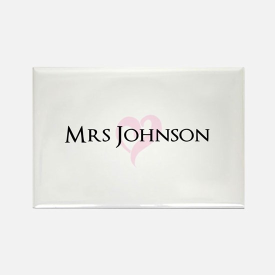 Own name Mr and Mrs set - Heart Mrs Magnets