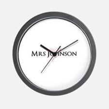 Own name Mr and Mrs set - Heart Mrs Wall Clock
