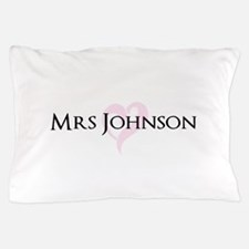 Own name Mr and Mrs set - Heart Mrs Pillow Case