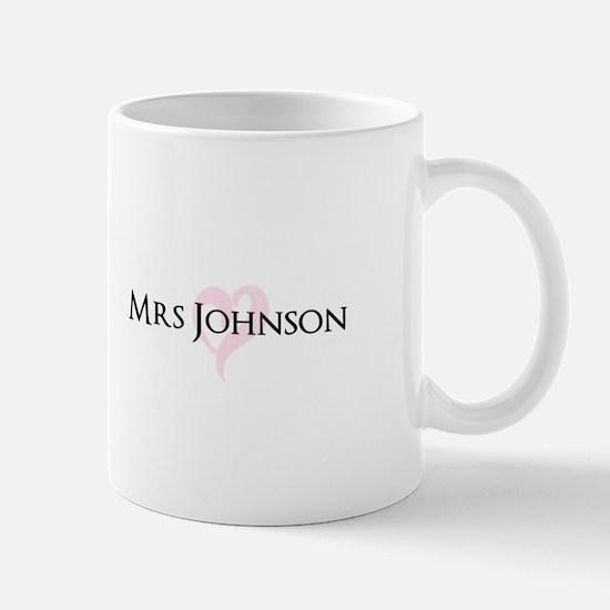 Own name Mr and Mrs set - Heart Mrs Mugs