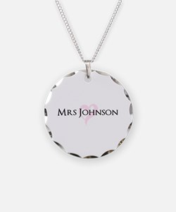 Own name Mr and Mrs set - Heart Mrs Necklace