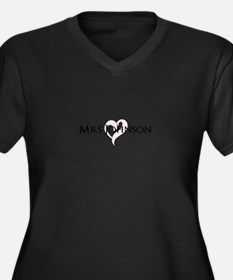 Own name Mr and Mrs set - Heart Mrs Plus Size T-Sh