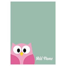 Modern Owl Name Mint Invitations