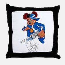 Gangsta Rat Throw Pillow