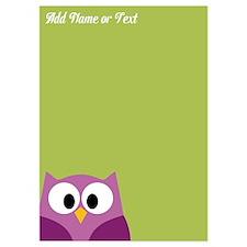 Modern Owl Name Lime Invitations