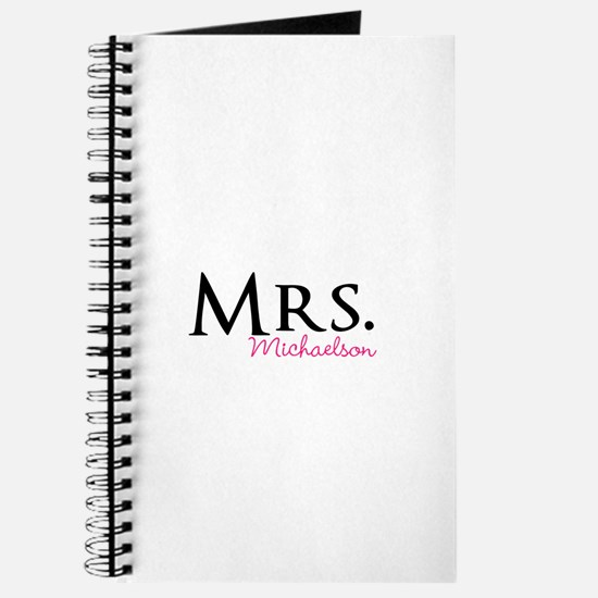 Your own name Mr and Mrs set - Mrs Journal
