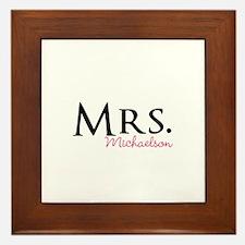 Your own name Mr and Mrs set - Mrs Framed Tile