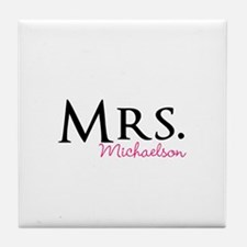 Your own name Mr and Mrs set - Mrs Tile Coaster