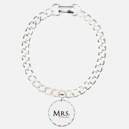 Your own name Mr and Mrs set - Mrs Charm Bracelet,
