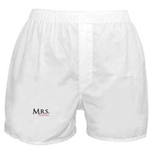 Your own name Mr and Mrs set - Mrs Boxer Shorts
