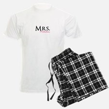 Your own name Mr and Mrs set - Mrs pajamas