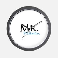 Your name Mr and Mrs set - Mr Wall Clock
