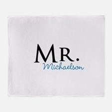 Your name Mr and Mrs set - Mr Throw Blanket