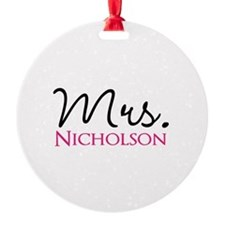 Customizable Mr and Mrs set - Mrs Ornament