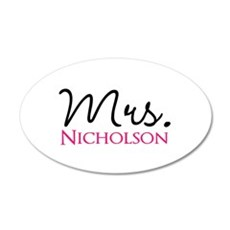 Customizable Mr and Mrs set - Mrs Wall Sticker