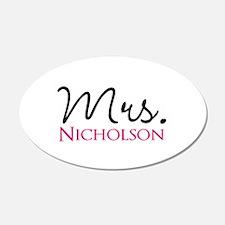 Customizable Mr and Mrs set - Mrs Wall Sticker