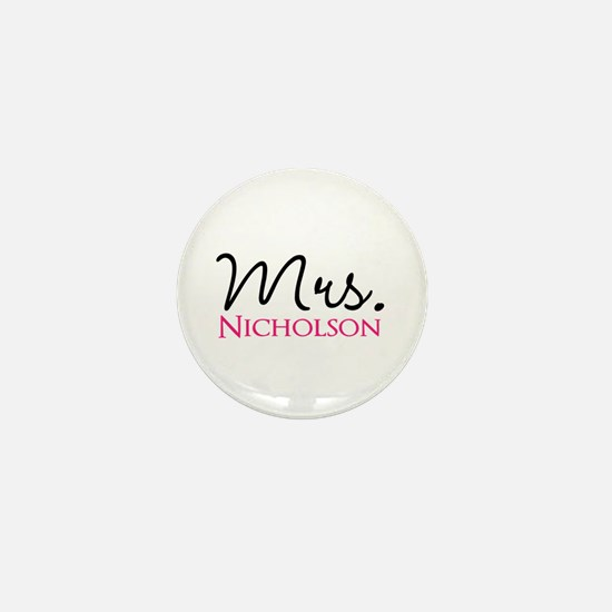 Customizable Mr and Mrs set - Mrs Mini Button