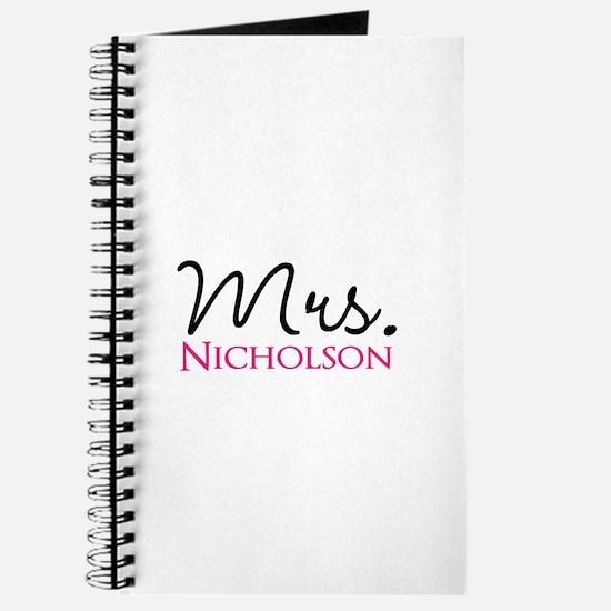 Customizable Mr and Mrs set - Mrs Journal