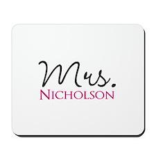 Customizable Mr and Mrs set - Mrs Mousepad